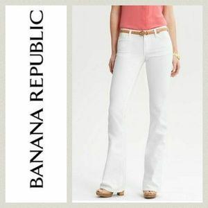 Banana Republic 24P White Flare Jeans